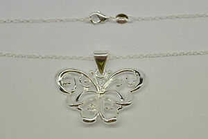Necklace Silver  Butterfly