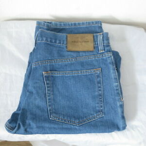 Calvin Klein Jeans Herren Blau Größe W34 L34 Stone Wash Denim Weites Bein#H0019N