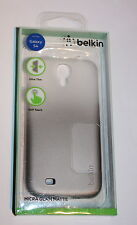GENUINE BELKIN MICRA GLAM MATTE CASE/COVER FOR SAMSUNG GALAXY S4 - GRAY/WH - NEW