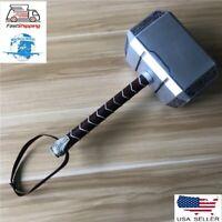 Hammer Thor Mjolnir Avengers Prop Cosplay Replica 1:1 Base Full Metal Stand marv