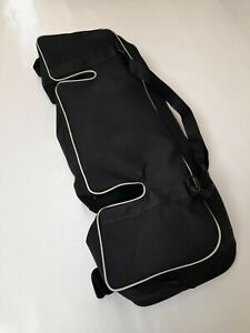 Caterham 7 Series 3 Boot Bag - Black Mohair with Super-Sprint White Piping