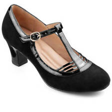 Hotter Suede Med (1 3/4 to 2 3/4 in) Heel Height Heels for Women
