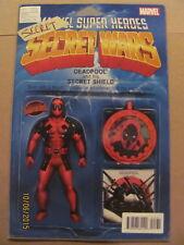 Deadpools Secrect Secret Wars #1 Action Figure Variant 9.6 Near Mint