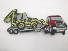 Excavator Truck Combo Embroidered Iron On Patch