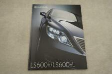 Lexus LS600H LS600HL Sales Brochure Book Japan Version JDM