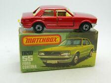Vintage Matchbox SuperFast No 55 Ford Cortina w/box - Fast Ship-