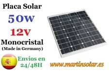 Placa panel solar 50w 12v Monocristal, panel solar.