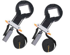 Set of 2 Corner Clamps Band Strap 4 Jaws Framing Jig Woodworking Picture Drawer