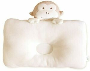 Organic Cotton Baby Protective Pillow Head Shaping Memory Foam Peekaboo Monkey