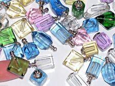 8pc Huge Lot MIX necklace pendant little Glass perfume animal charm small Bottle