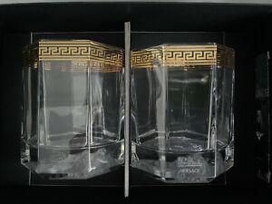 VERSACE Medusa d'OR Gold WHISKEY GLASS Set of 2  New in Box Whisky Dor Rosenthal