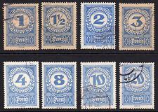 Austria Part Set of 8 Stamps c1920-21 Used (156)