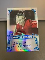 2017 Leaf Metal Sports Heroes Ed Giacomin AUTO #5/7! - New York Rangers