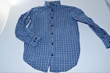 Class Club Youth Slim Fit Size 10 Blue Long Sleeve Button Down Shirt