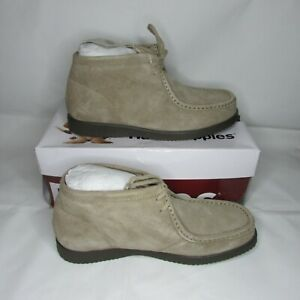 NEW Men's Size 9 Hush Puppies Bridgeport Classic Taupe Suede Driving Moccasin