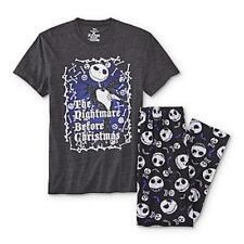 cd9981214 The Nightmare Before Christmas Medium Mens Jack Skellington Black Pajamas  PJ Set