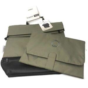 🔴 Bugaboo Diaper Bag W/ Padded Changing Pad - Dark Khaki & Black