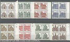Berlin 242 - 249 postfrisch Viererblock 242 mit DZ VB alle mit Bogenrand rechts