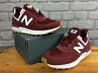 NEW BALANCE LADIES UK 4 EU 37 574 CLASSIC BURGUNDY SUEDE MESH TRAINERS LD