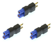 Apex RC Products No Wire Male Ultra T Plug -> Female EC3 Adapter - 3 Pack #1251