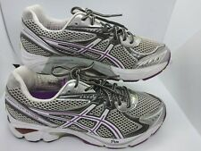 ASICS GT 2160 GYM RUNNING TRANING WHITE GRAY PURP SNEAKERS WOMENS​ SHOES SIZE 10