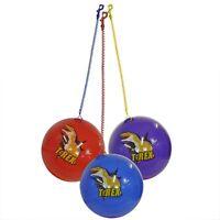 Dinosaur Football Bouncy ball with a stretchy keychain 24cm diameter (deflated)
