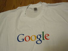 GOOGLE logo T-SHIRT XL Feeling Lucky White NEW NWOT American Apparel Extra Large