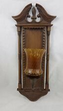EARLY AMERICAN STYLE CANDLE WALL SCONCE BURWOOD PRODUCTS 1972
