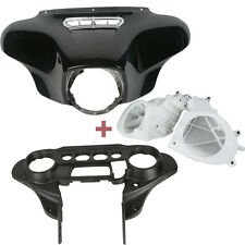 Batwing Inner+Outer Fairing w/ Speakers Cover for Harley Street Glide 14-17