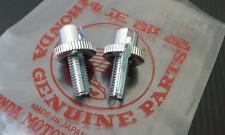 HONDA S90 CB100 CB125 Cb175  CABLE ADJUSTING BOLT & NUT = 1PAIR
