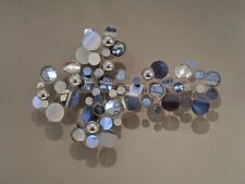 Curtis C. Jere Chrome Raindrops Wall Sculpture Signed Midcentury Modern