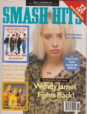 SMASH HITS MAGAZINE - NEW KIDS ON THE BLOCK, WENDY JAMES - NOV 89