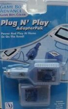 NEW Ice Blue AC Home & 12 Volt Car lighter Power adapter for Game boy Advance