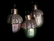 Christopher Radko Acorns - lot of 3 Ornaments