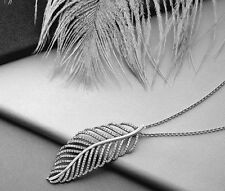 Chain Included! Authentic Pandora Light As A Feather Pendant Necklace #390350CZ