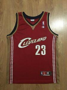 NBA AUTHENTIC Cleveland Cavaliers LeBron James #23 Champion Basketball Trikot L