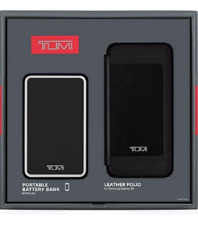 TUMI Leather Folio Case & Portable Battery - Gift Set for Samsung Galaxy S6