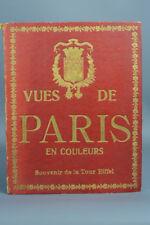 BEL ET ANCIEN LIVRE TOUR EIFFEL PARIS MONUMENT EXPOSITION UNIVERSELLE SOUVENIR