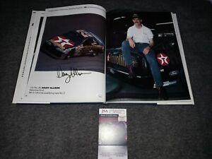 Davey Allison Signed Book Jsa