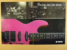 1986 Yamaha SE700E Electric Guitar vintage print Ad