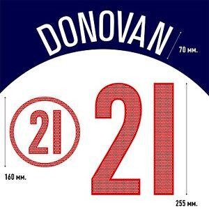 Donovan 21. USA Home football shirt 2004 - 2006 FLEX NAMESET NAME SET PRINT