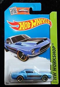 HOT WHEELS '68 SHELBY GT500 HW WORKSHOP - BLUE with LIGHT BLACK STRIPES - NEW