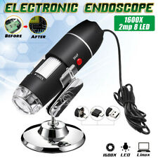 1600X 8LED 2MP USB Zoom Microscope électronique Endoscope Caméra Loupe