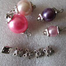 30 un. Tapas de perlas de plata tibetana Collares termina joyería artesanal 01832 7 mm cuadrado