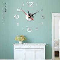 3D DIY Clock Wall Decor Stickers Modern Decoration Crystal Mirror Art Home