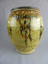SUPERBE VASE TERRE CUITE EMAILLE TERRACOTA JEAN GABRIEL LOUP ? STYLE VALLAURIS
