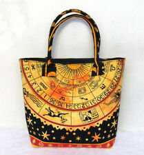 New Astrology Shoulder Bag Women's Beach Towel Bags Cotton Zodiac Tie Dye Throw
