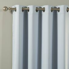 """Best Home Fashion Thermal Insulated Blackout Curtains, Sky Blue, 52"""" W x 84"""" L"""
