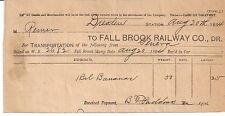 1894 FALL BROOK RAILWAY COMPANY Dresden Station GENEVA B. F. Paddock