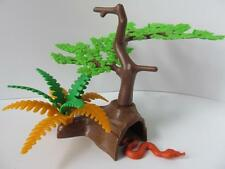 Playmobil Tree stump, fern & snake NEW scenery for Zoo/safari/western sets